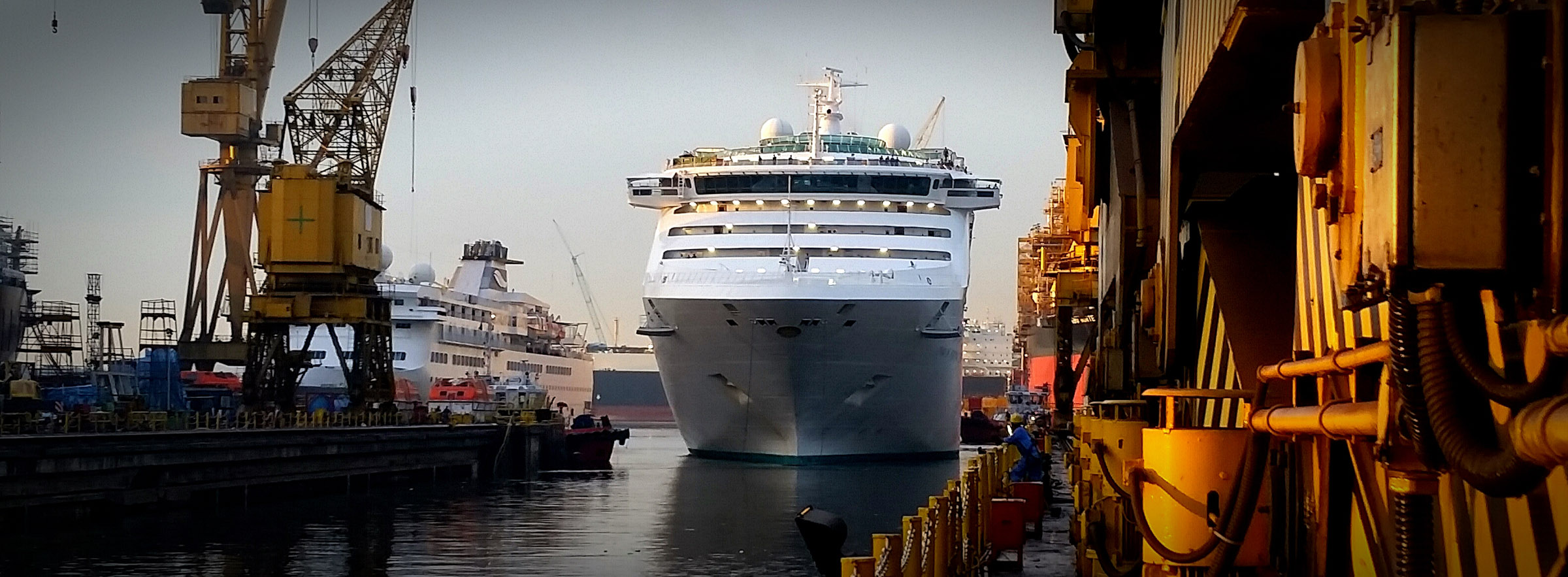 Pacific Explorer drydock begins