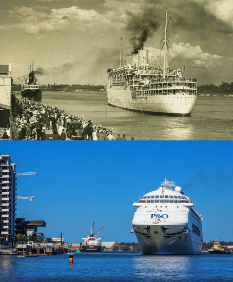 The Historic Photo That Reveals The P&O Liner That Gave Birth To Modern Day Cruising In Brisbane!